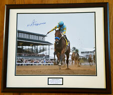 American Pharoah Breeders' Cup Remote 16x20 Framed Signed Victor Espinoza New!