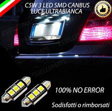 COPPIA LUCI TARGA A 3 LED MERCEDES CLASSE A W169 CANBUS NUOVO MODELLO NO ERROR