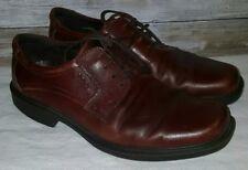 Ecco Leather Oxford Burgundy round plain Toe EU 43  Shoes