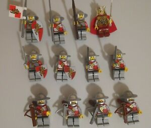 8 Lego Castle Minifigs Lot kingdom army vintage figures knights breastplate
