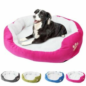Pet Dog Warm Bed Puppy Cat Fleece House Plush Cozy Cave Mat Pad Sleeping Nest