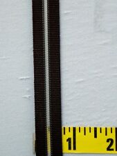 "Bra Strap Elastic Lingerie Elastic 5/8"" Brown w/ Clear Center Stripe 5 yds #1935"