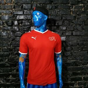 Switzerland Team Jersey Home football shirt 2008 - 2010 Puma Trikot Mens Size M