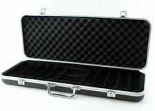 More details for 500 piece abs poker chip case in black