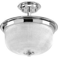 Progress Lighting Archie Collection 2-Light Polished Chrome Semi-Flush Mount