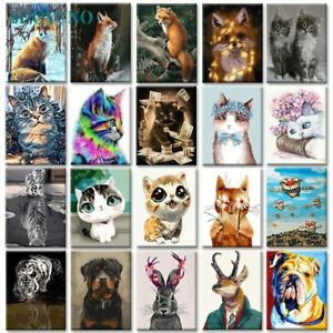 Creepy Animals Painting By Numbers Kit Includes Paints Brush Board