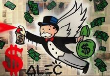 Alec Monopoly Oil Painting on Canvas Graffiti art home Decor The Angel No Frame