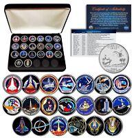 SPACE SHUTTLE PROGRAM MAJOR EVENTS NASA Florida State Quarters 20-Coin Set Box