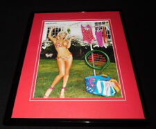 Jenny McCarthy 2005 Taking Bikini Top Off Framed 11x14 Photo Display
