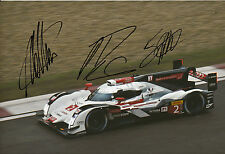Lotterer, Treluyer, Fässler Audi Joest Hand Signed Photo 12x8 Le Mans 3.