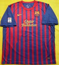 4.8/5 FC BARCELONA 2011~2012 ORIGINAL SOCCER FOOTBALL SHIRT JERSEY HOME NIKE