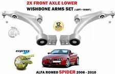 FOR ALFA ROMEO SPIDER 2006-> 2X FRONT LEFT + RIGHT LOWER WISHBONE SUSPENSION ARM