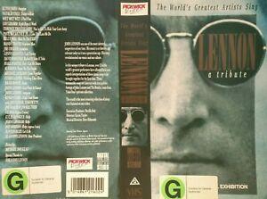 JOHN LENNON VHS VIDEO LENNON A TRIBUTE