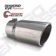 "DIAMOND EYE EXHAUST TIP 5"" Inlet 6"" Outlet Steel 12"" Long 5612BRA-DE"