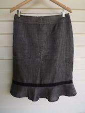 Jacqui E Women's Grey & Black Skirt - Size 10