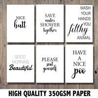 Bathroom Wall Art, Bathroom Prints, Bathroom Pictures Decor Funny Quote Art Gift