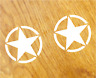 US ARMY STERNE Aufkleber Sticker USA Decal Star Zeichen Oldschool Tuning Hotrod