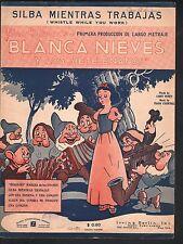 Silba Mientras Trabajas Blanca Nieves Y Los Siete Enanos (No Sp) Sheet Music