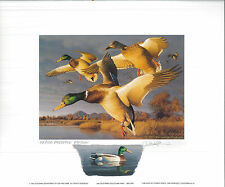 CALIFORNIA #26 1996 STATE DUCK PRINT Robert Steiner, Color Remarque #42/250