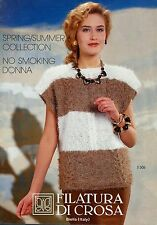 Filatura Di Crosa Knitting Magazine w/ 10 Patterns Spring Summer Collection S306