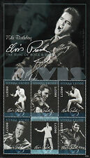 Sierra Leone 2011 MNH Elvis Presley 75th Birthday King Rock Roll 6v M/S