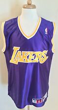 Vintage Rare Los Angeles Lakers Authentic Champion Blank NBA Jersey Size 44 Kobe