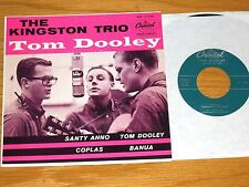 """LOT of 2 KINGSTON TRIO EPs - CAPITOL EAP 1-1136 & 1199 - """"TOM DOOLEY"""" """"AT LARGE"""""""