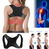 Adjustable Back Posture Corrector Shoulder Support Brace Belt Therapy Men Women