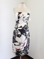Kay Unger 2 Piece Dress Set Strapless Top and Skirt Sz 2 Cocktail Evening Floral