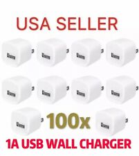 Lot 100 X Wall Charger Power Adapter Excellent QUALITY For iPhone 4 s 5 s 6 plus