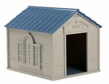 XXL Dog Kennel House X-Large Big Shelter Outdoor Pet Cabin 100 lbs Resin Sturdy