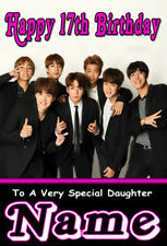 NEW BTS BANGTAN BOYS Personalised Birthday Card ANY NAME / AGE / RELATION KPOP 4