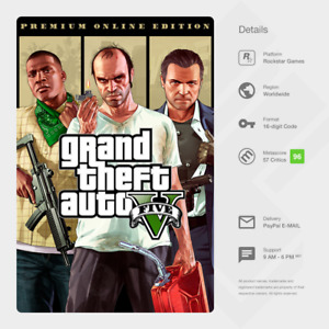Grand Theft Auto V 5: Premium Online Edition (PC) - Rockstar Games Key [GLOBAL]