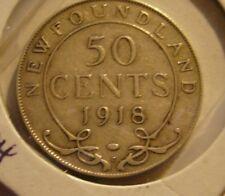 1918 Newfoundland 50 Cent Coin