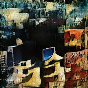 Seaside City - RARE NFT - Generative Abstract Art Salvador Dali Like - 1 of 100