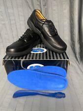 Dr Comfort Stallion Black Leather Comfort Oxford Walking Shoes Mens Sz 13 EU47.5