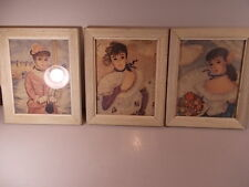 Lot Of Three 3 Vintage Reliance Industries Framed Art Prints Of Classy Ladies