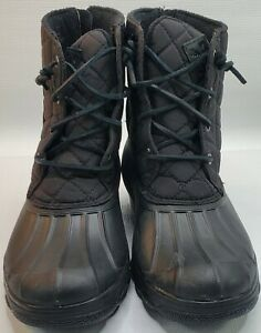 Women's Sperry Top Sider Quarter Black Lace/Zip Ankle Boots STS80741 Size 10