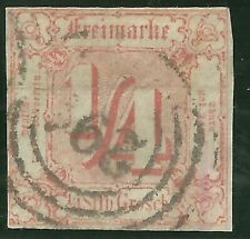 Germany Thurn and Taxis #8 ¼ s.g. of 1859