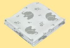 Molton Einlage ASMi Baby Sabber Spucktücher 3er Pack 40x40 cm Baumwolle Elefant