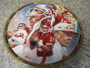 RARE 1996 Proof Plate #4A ~ Joe Montana 'CHIEF ON THE FIELD' Hamilton Collection