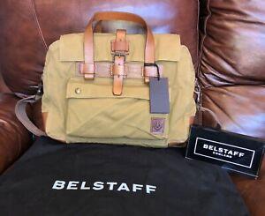 BELSTAFF Colonial Briefcase Messenger Bag Canvas Leather I am legend75610373 3