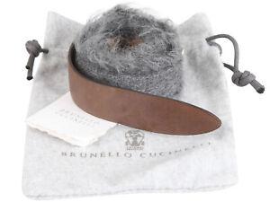 "Brunello Cucinelli women's leather belt wool size M Italy 42 US 6"" GB 10"