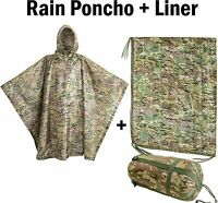 USGI Industries - Rip-Stop Liner & Rain Poncho 2-Pack (OCP / Multicam)