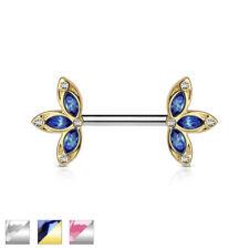 Piercings escudos de cristal