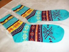 Brand New Multi-Color Southwest Indian Print Ankle Socks Women Size 9-11