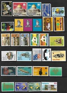 MALAYSIA 1963-87. MH COLLECTION OF MAINLY SETS. 9 SCANS. 245 STAMPS.  (1532)
