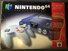 Nintendo 64 Gray Original Game Console (NTSC) Complete *Brand New*