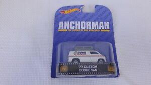 Hot Wheels Anchorman The Legend Of Ron Burgundy Custom Dodge News Van Diecast