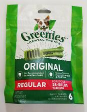 6OZ Greenies Original Dental Treats Regular 25-50lb Dog Treats 6pc